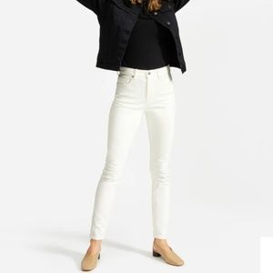Everlane High Rise Skinny White Jeans
